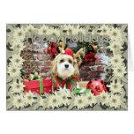 Christmas - Cavachon - Max Greeting Card