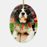 Christmas - Cavalier King Charles Spaniel - Bandit Christmas Ornament