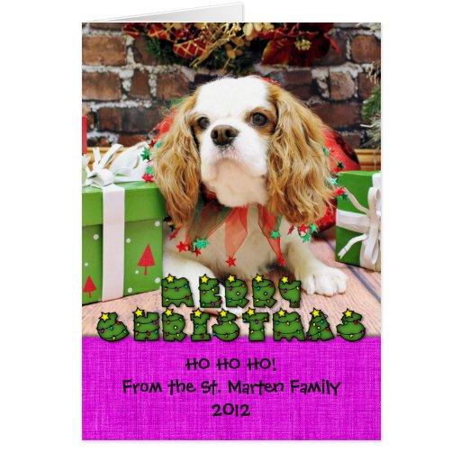 Christmas - Cavalier King Charles Spaniel Mei Mei Greeting Card ...
