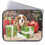 Christmas - Cavalier King Charles Spaniel - Poppy Laptop Sleeves