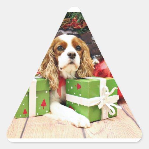 Christmas - Cavalier King Charles Spaniel - Poppy Sticker