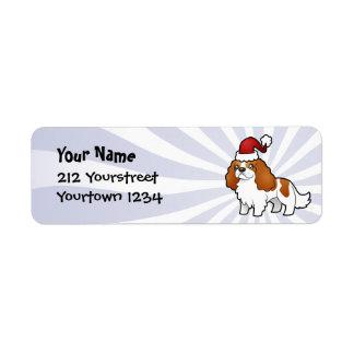 Christmas Cavalier King Charles Spaniel Return Address Label