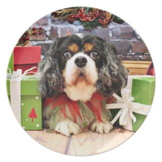 Christmas - Cavalier King Charles Spaniel - Rose Plate