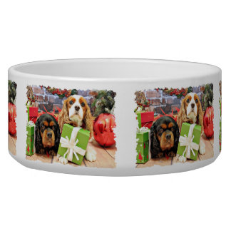 Christmas - Cavalier - Sweet Pea and Poppy Pet Bowls