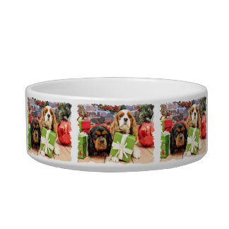 Christmas - Cavalier - Sweet Pea and Poppy Cat Water Bowl