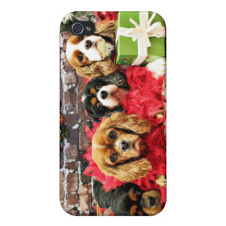 Christmas - Cavalier - Sweet Pea, Lily, Rose Poppy Case For iPhone 4