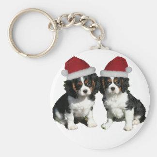 Christmas Cavaliers Keychain