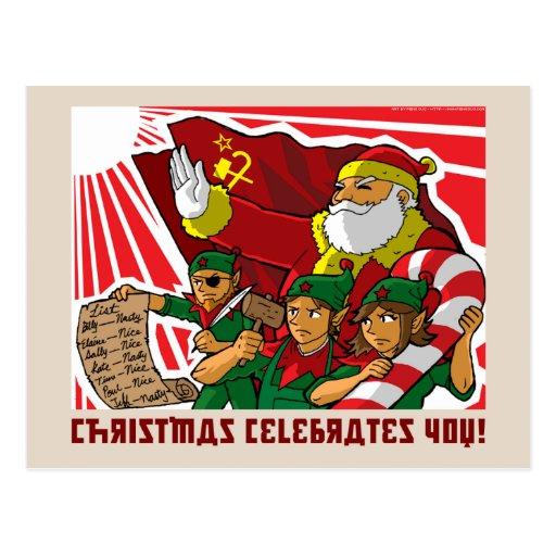 Christmas celebrates you! postcards