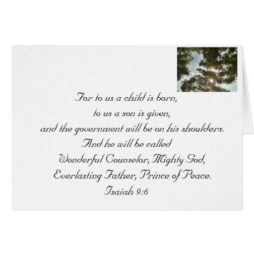 Christmas - Celebrating The Saviour's birth Stationery Note Card