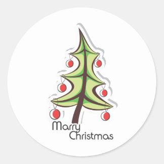 Christmas Celebration Classic Round Sticker