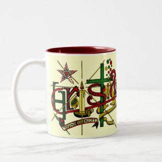 CHRISTMAS CELEBRATION Two-Tone COFFEE MUG