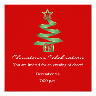 Christmas Celebration X-Mas Tree Custom Announcement