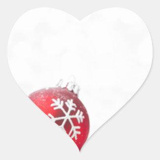 Christmas Celebrations Heart Sticker