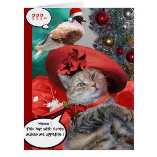CHRISTMAS CELEBRATIONS OF PRINCESS TATUS CAT CARD