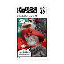 CHRISTMAS CELEBRATIONS OF PRINCESS TATUS CAT POSTAGE STAMPS