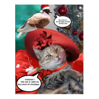CHRISTMAS CELEBRATIONS OF PRINCESS TATUS CAT POSTCARD