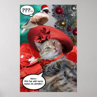CHRISTMAS CELEBRATIONS OF PRINCESS TATUS CAT POSTER