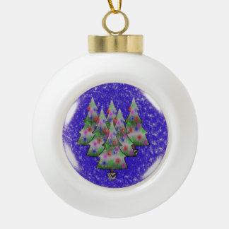 Christmas Ceramic Ball Ornament