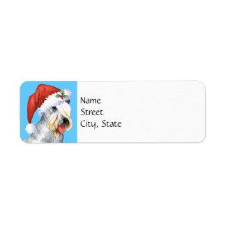 Christmas Cesky Terrier Label