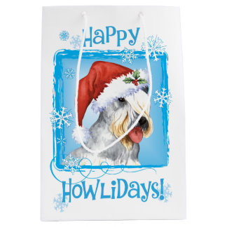 Christmas Cesky Terrier Medium Gift Bag