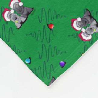 Christmas Cesky Terriers Fleece Blanket