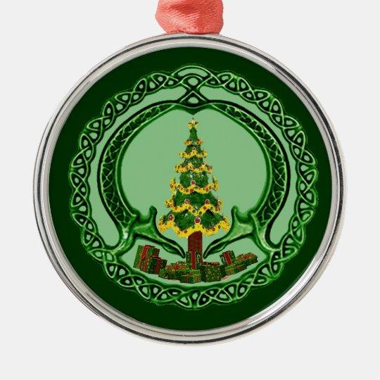 Christmas Chaddagh Metal Ornament