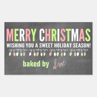 Christmas Chalkboard Baked Goods Labels