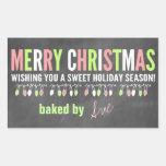 Christmas Chalkboard Baked Goods Labels Rectangular Sticker