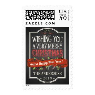 Christmas Chalkboard Banner Pub Sign Holiday Stamp