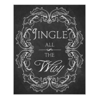 Christmas chalkboard Jingle all the Way print