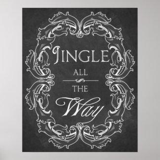 Christmas chalkboard Jingle all the Way print