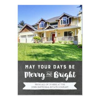 Christmas Chalkboard Photo Card Real Estate