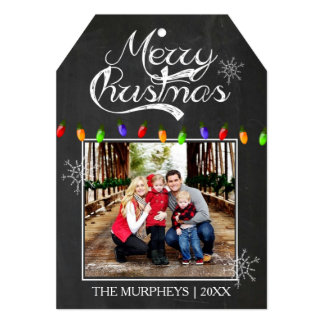 Christmas Chalkboard Photo Greeting Card Announcements