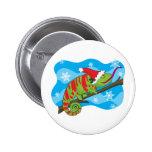 Christmas Chameleon Button