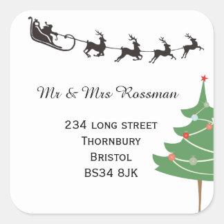 Christmas Change of address sticker
