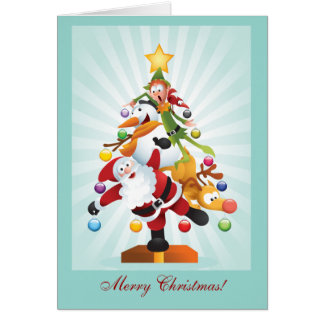 Christmas Characters X-Mas Tree Card