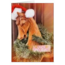 CHRISTMAS CHARIOT 5x7 Greeting Card