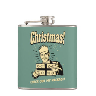 Christmas: Check Out My Package Flask