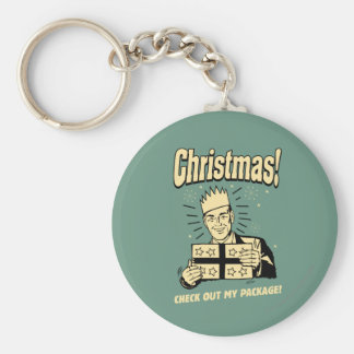 Christmas: Check Out My Package Keychain
