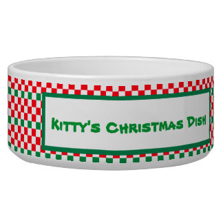 Christmas Checked Patterns Bowl
