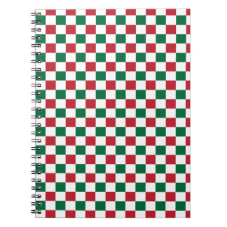 Christmas Checkerboard Notebook