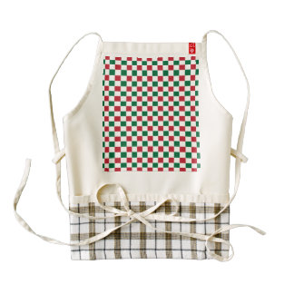 Christmas Checkerboard Zazzle HEART Apron