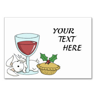 Christmas Cheer and a Flutterby Bunny - Table Card
