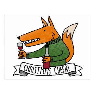 Christmas Cheer Fox Postcard
