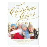 CHRISTMAS CHEER | HOLIDAY PHOTO CARD CUSTOM INVITATIONS