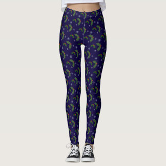 Christmas Cheer Holly Berries Pattern Leggings