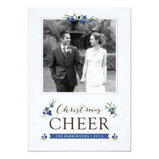 Christmas Cheer Juniper Berries Holiday Photo Card