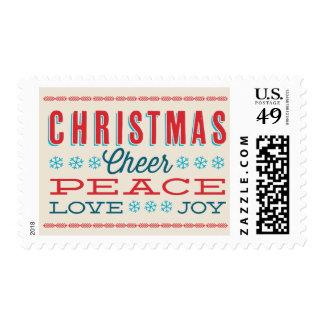 Christmas Cheer Peace Love Joy Holiday Stamp