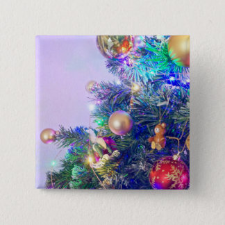 Christmas Cheer Photo Badge Button