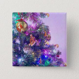 Christmas Cheer Photo Badge Pinback Button
